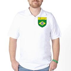 Brasil Flag Crest Shield T-Shirt