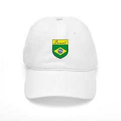 Brasil Flag Crest Shield Baseball Cap
