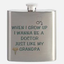 When I Grow Up Doctor Tee Flask