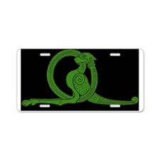 Black Dragon Aluminum License Plate