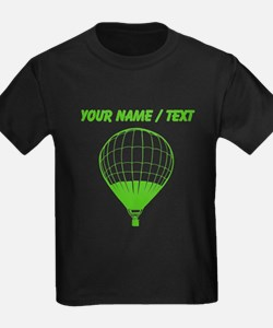 Custom Green Hot Air Balloon T-Shirt