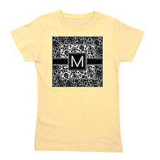 damask_monogram_M Girl's Tee