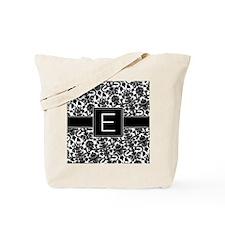 damask_monogram_E_nb Tote Bag