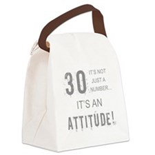 30th Birthday Attitude Canvas Lunch Bag