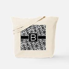 damask_monogram_B_nb Tote Bag