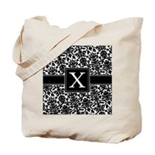 damask_monogram_X_nb Tote Bag