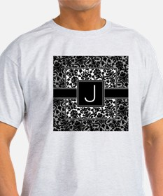 damask_monogram_J T-Shirt