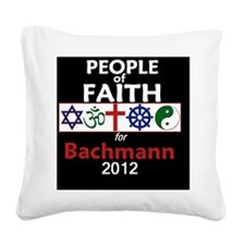Bachmann 2012 Square Canvas Pillow