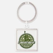 Libertarian_Green Square Keychain