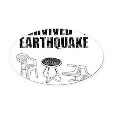 quake Oval Car Magnet