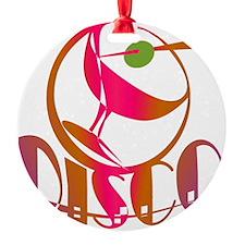 Disco Martini Round Ornament