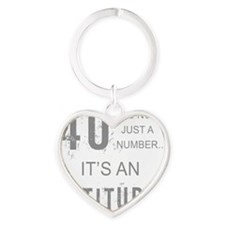 40th Birthday Attitude Heart Keychain