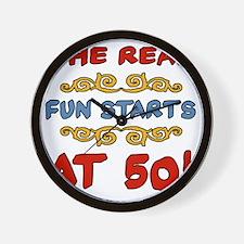 RealFun50 Wall Clock