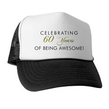 Celebrating 60 Years Awesome Light Trucker Hat