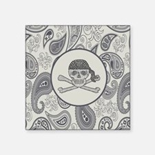 "nautical pirate skull moder Square Sticker 3"" x 3"""