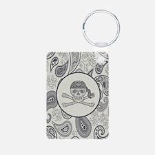 nautical pirate skull mode Keychains
