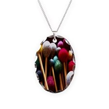 Mallets Necklace Oval Charm