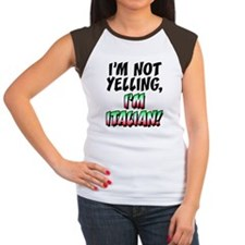 Not Yelling Im Italian  Women's Cap Sleeve T-Shirt