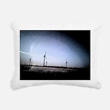 Turbines Painting Rectangular Canvas Pillow