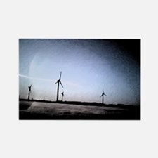 Turbines Painting Rectangle Magnet