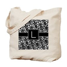 damask_monogram_L_nb Tote Bag