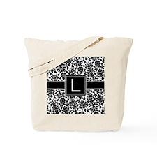damask_monogram_L_nb Tote Bag