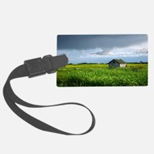 Wooden Shed in Canola Field Luggage Tag