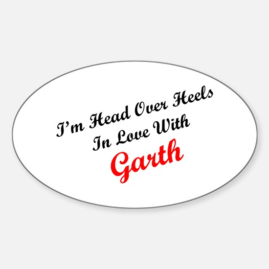 In Love with Garth Oval Decal