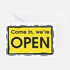 Were open Greeting Card