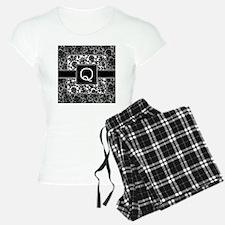 damask_monogram_Q Pajamas