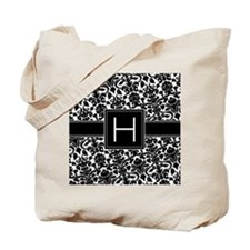 damask_monogram_H_nb Tote Bag