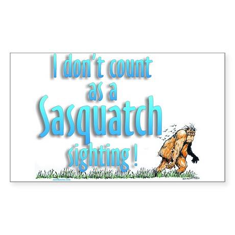Sasquatch Sighting Rectangle Sticker