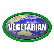 VEGETARIAN Oval Decal