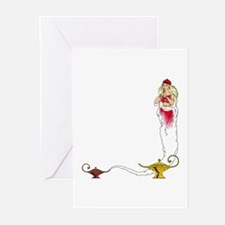 Genie on a  Greeting Cards (Pk of 10)