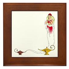 Genie on a  Framed Tile