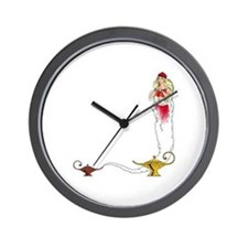 Genie on a  Wall Clock