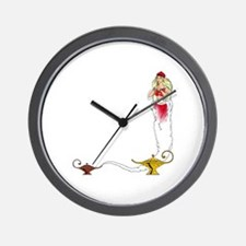 Genie on a  Wall Clock