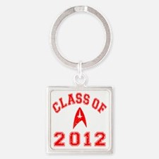 CO2012 Trekkies Red Distressed Square Keychain