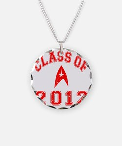 CO2012 Trekkies Red Distress Necklace Circle Charm