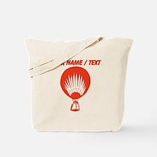 Custom Red Hot Air Balloon Tote Bag