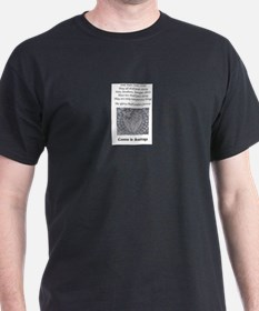 Men's White Crew Neck T-Shirt With Poem T-Shirt