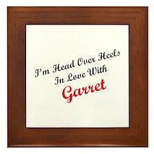 In Love with Garret Framed Tile
