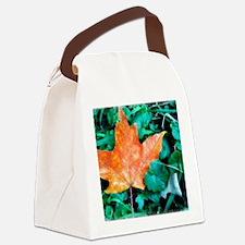 Autumn Leaf Painting Canvas Lunch Bag