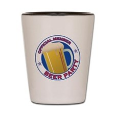 BeerPartyLogo Shot Glass