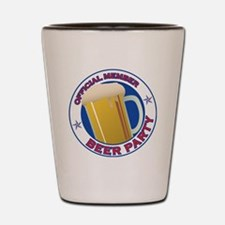 BeerPartyLogo Shot Glass