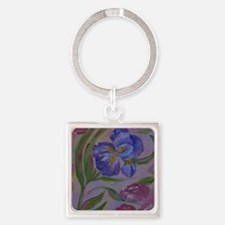 Pastel Purples Square Keychain