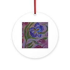 Pastel Purples Round Ornament