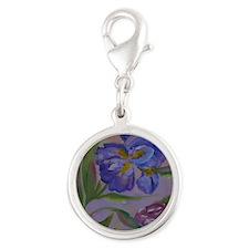 Pastel Purples Silver Round Charm