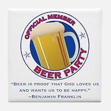BeerPartyBFBeer Tile Coaster
