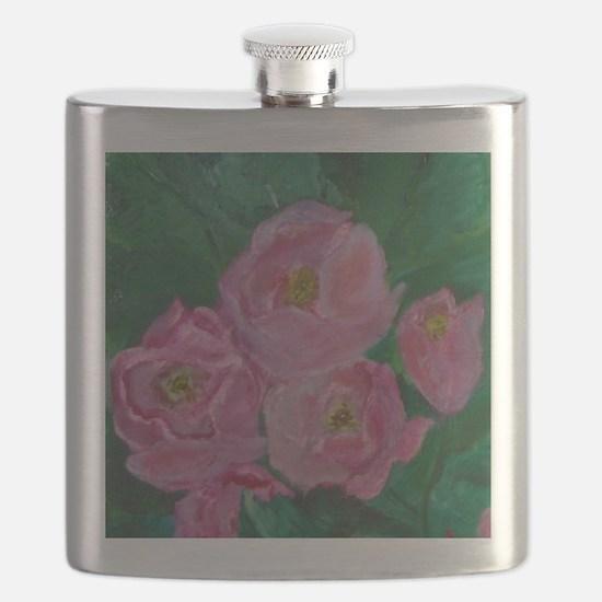 Pink Bouquet Flask